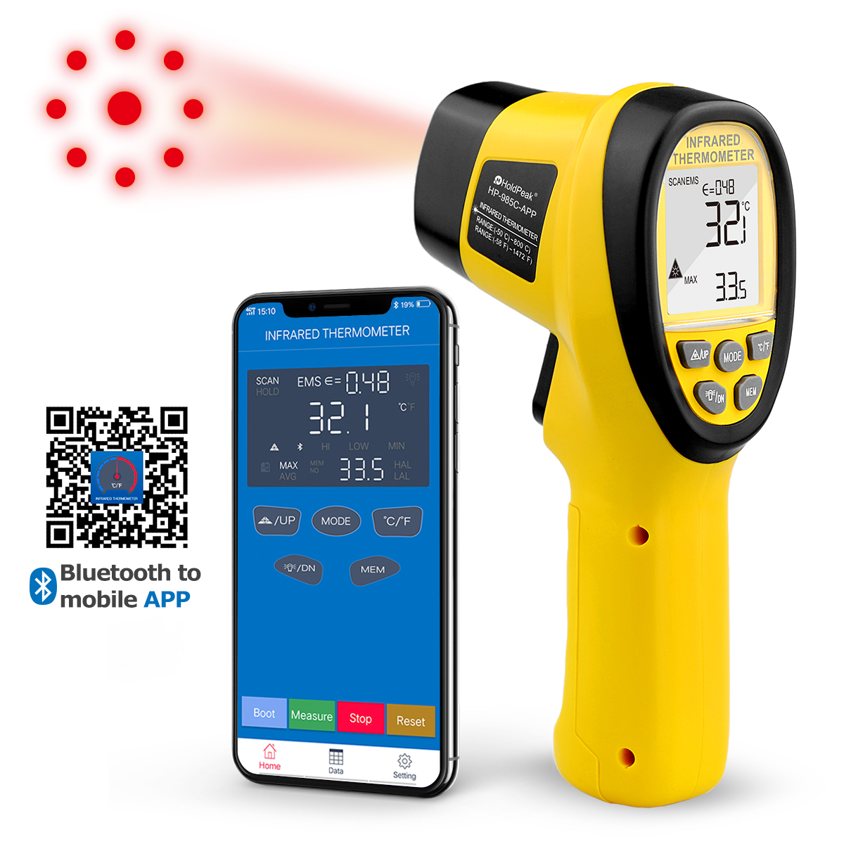 IR Infrared Thermometer Handhold -50-800℃